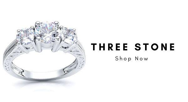 Trending Real Diamond Jewelry designs 2020, best Three Stone Rings