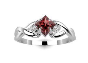 The Garnet Engagement Ring