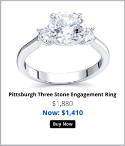 Three stone Engagement Rings For her