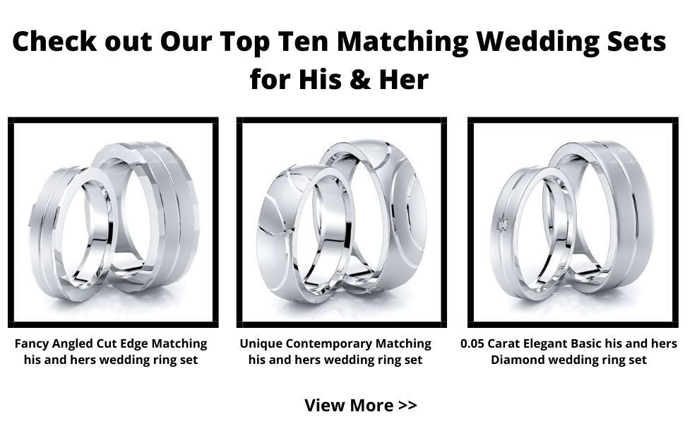 Matching wedding Ring Sets for His and Hers